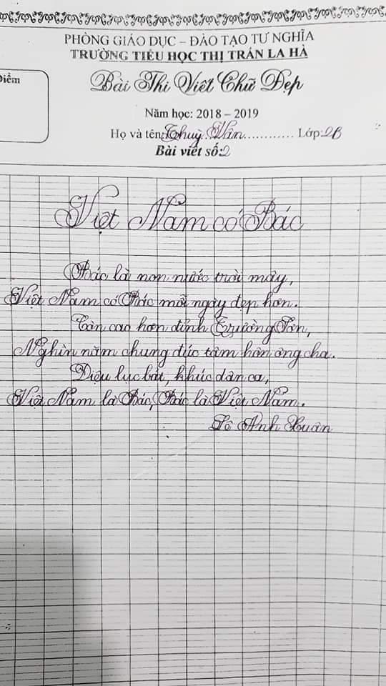 mẫu chữ viết thường tiểu học
